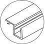 Perfil de policarbonato para cancel de ba�o