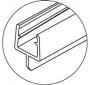Perfil de policarbonato para cancel de ba�o tipo sellapolvos