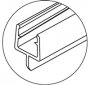 Perfil de policarbonato para cancel de baño tipo sellapolvos